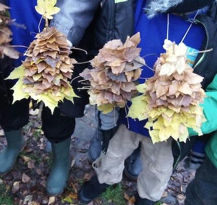 Leaf Xmas Trees