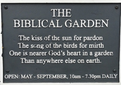 Post image for The Biblical Garden