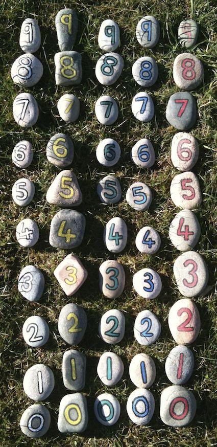 Number pebbles