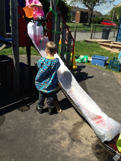 Bubble wrap slide