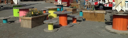 Post image for Wooden Cable Drums – Developing Physical and Literacy Skills Outside